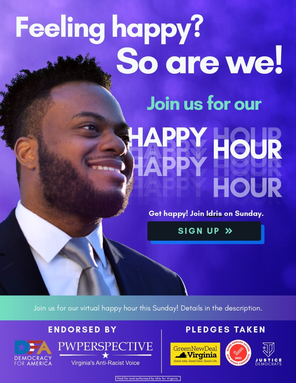 Join Idris for Happy Hour