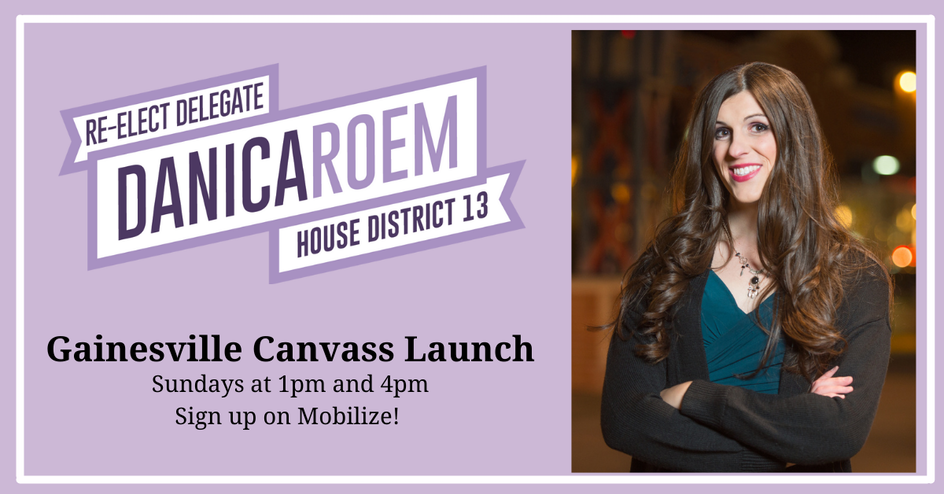 Canvass for Danica Roem for Delegate in Gainesville