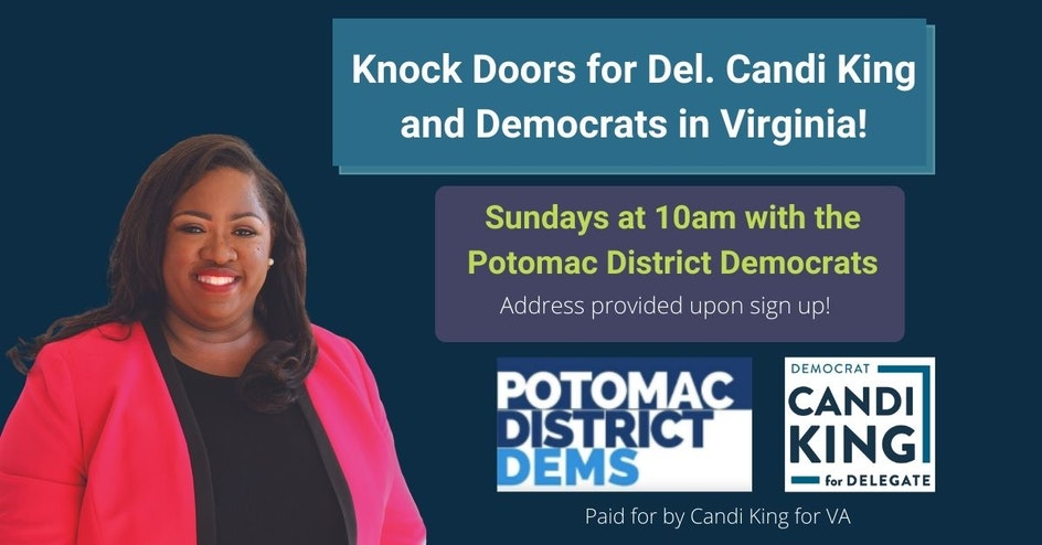 Canvass Launch with the Potomac Dems Team King!