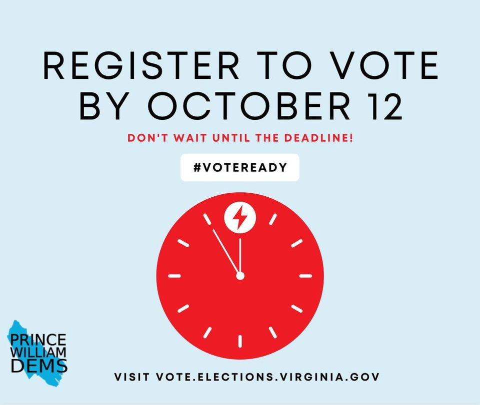 Register To Vote By October 12th