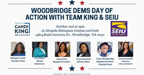 Woodbridge Dems Day of Action with Team King and Seiu