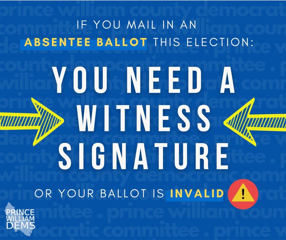 Absentee Ballot You Need A Witness Signature