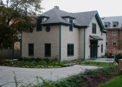 a4-architecture-Brown street-providence-LEED-silver-front walk-driveway