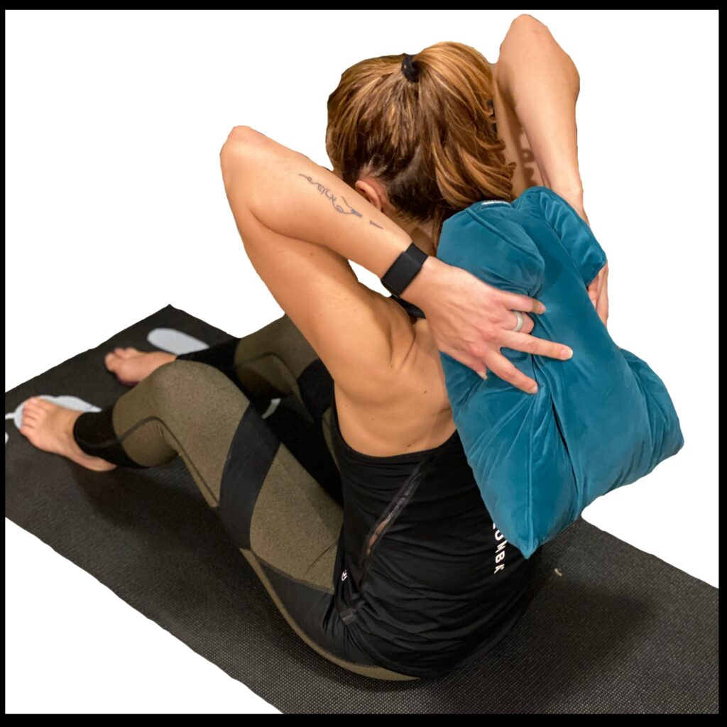 Pillow Placement for Heart Opener Stretch