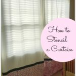 DIY-How to Stencil a Curtain