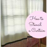 DIY-How to Stencil a Curtain