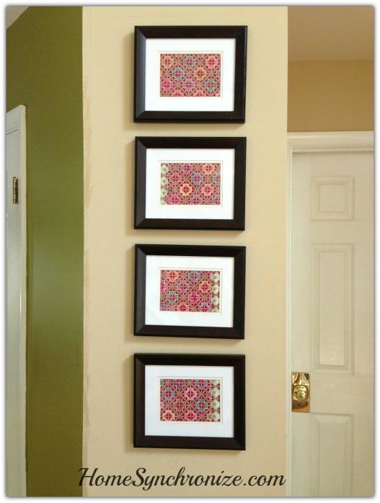Fabric framed art 1