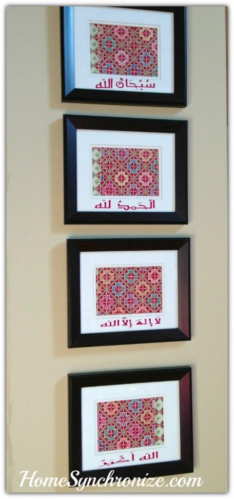 framed fabric art 5