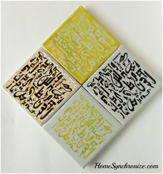 Arabic calligraphy coasters