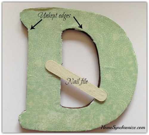 wooden letter craft