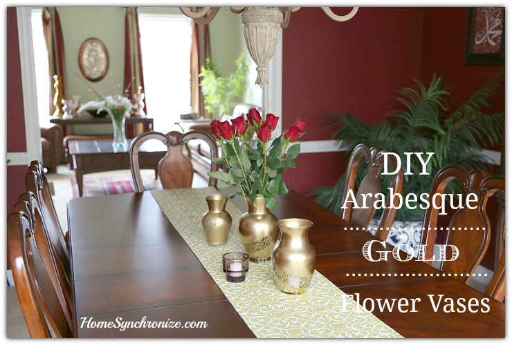 DIY Arabesque vases