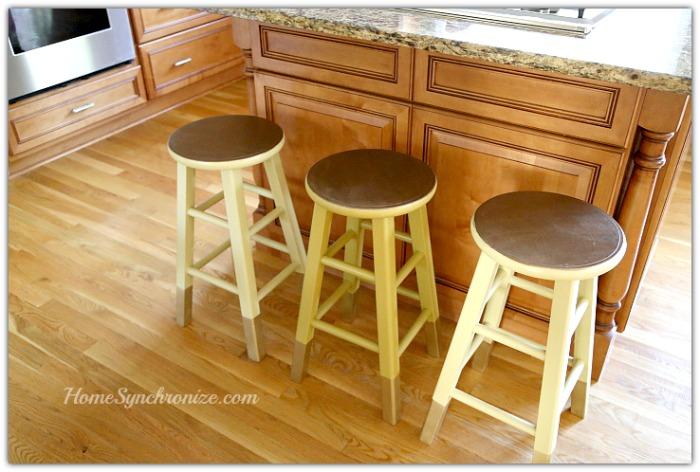 DIY painted bar stools 2