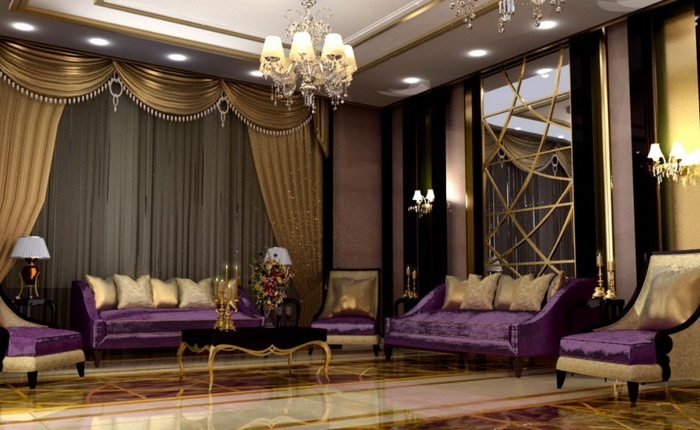 Luxury of gold and purple