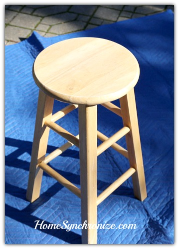 Painted bars stool-Before