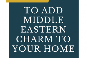 middle eastern decorating style