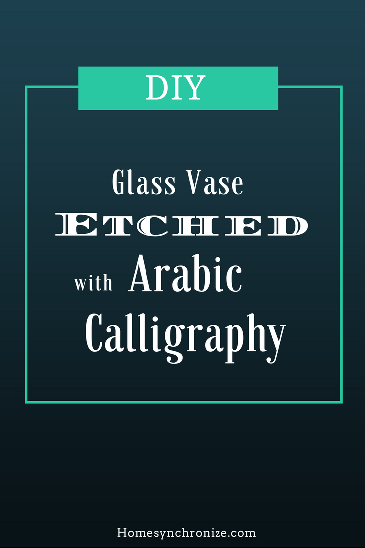glass etching DIY