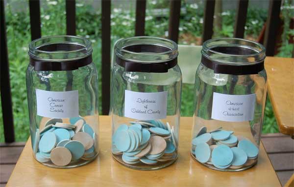 Charity jars