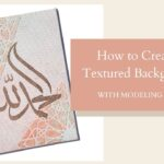 How To Create A Textured Background For Art {Video Tutorial}