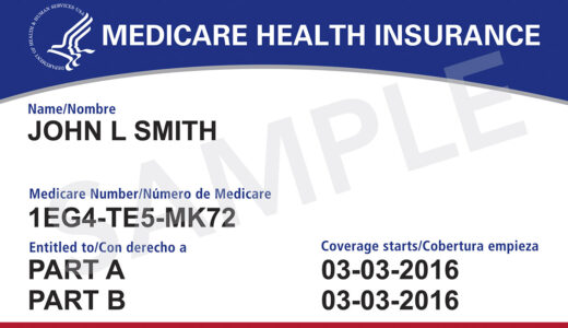 This image provided by the Centers for Medicare & Medicaid Services shows what the new Medicare cards will look like. The cards are getting a makeover to fight identity theft. No more Social Security numbers will be placed on the card. Next April, Medicare will begin mailing every beneficiary a new card with a unique new number to identify them. (Centers for Medicare & Medicaid Services via AP)