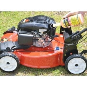 ethanol shield or mechanic in a bottle should be used to prevent hard starts or no-start lawn mowers and small engines.