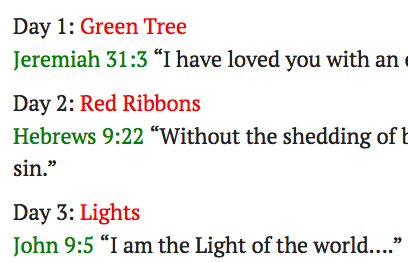 Sample of daily verses