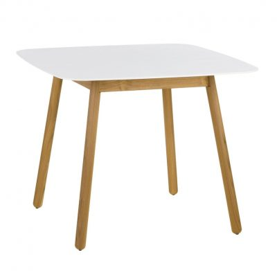 Round Square Dekton Top Dining Table