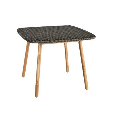 Round Square Weaving Top Dining Table