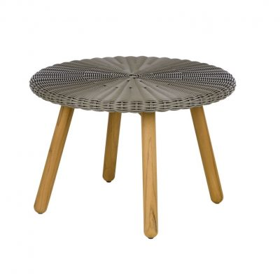 Round Auxiliary Table Weaving Top