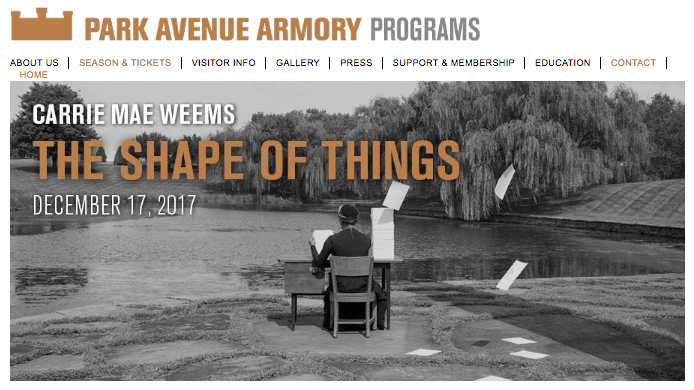 Shani Jamila Carrie Mae Weems Park Avenue Armory The Shape of Things