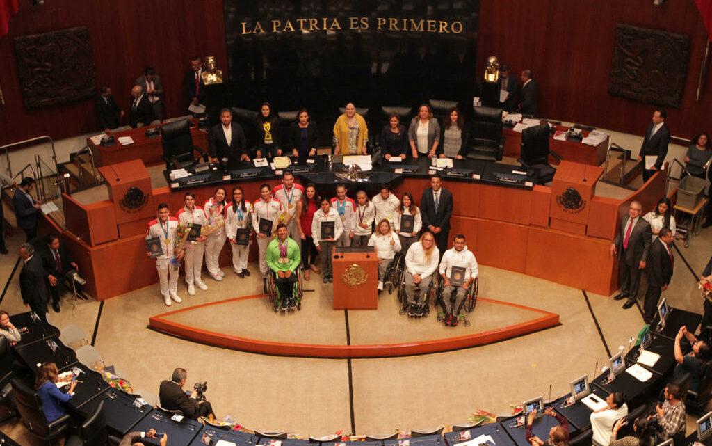 Senado reconoce a ganadores de Panamericanos y Parapanamericanos