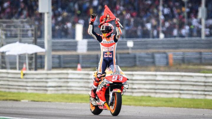 Marc Márquez ganó su sexto título MotoGP al imponerse en Tailandia