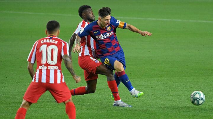 El Barcelona igualo a dos ante el Atlético de Madrid