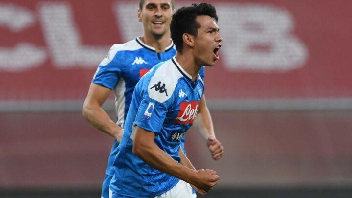 Hirving Lozano marcó el gol de la victoria con el Napoli