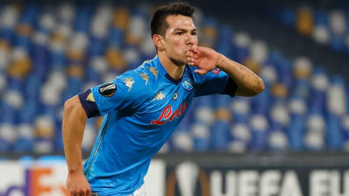 «Chucky» Lozano marcó en la victoria del Napoli en la Europa League