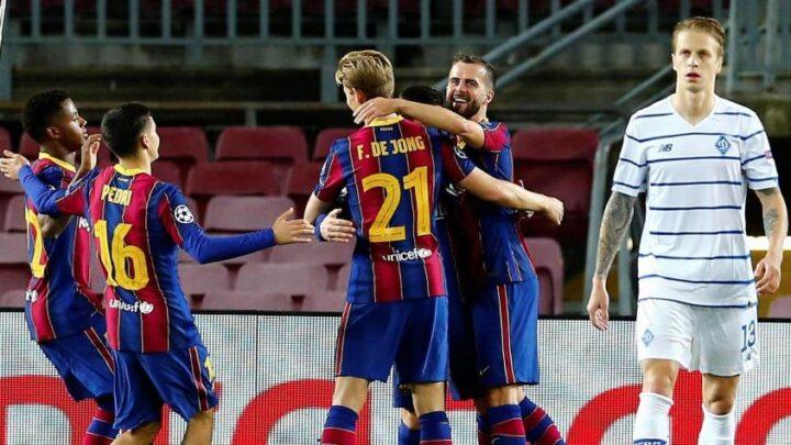Barcelona y Sevilla sacaron triunfos en la Champions