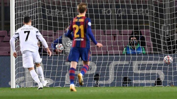 La Juve y Cristiano golearon al Barcelona en Champions
