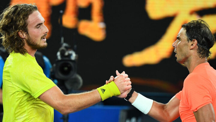 Stefanos Tsitsipas derrotó a Nadal en el Abierto de Australia
