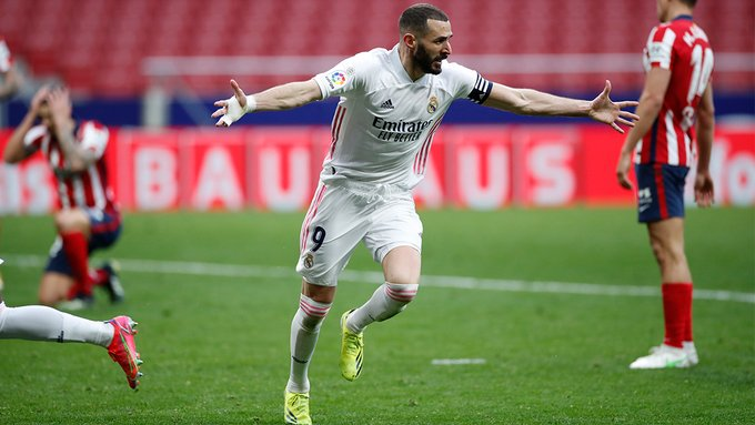 Benzema evitó la caída del Madrid ante el Atleti