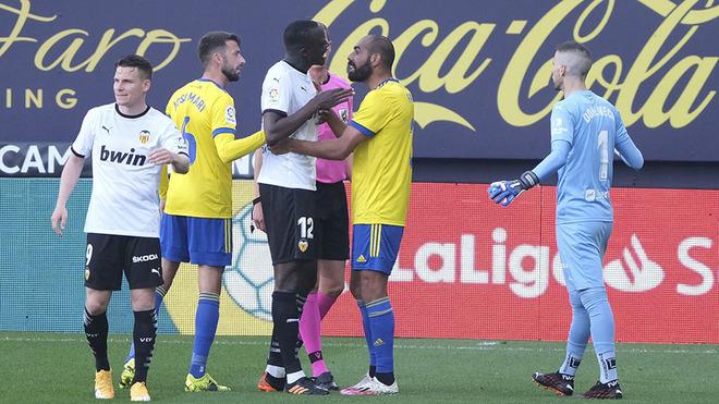 Presunto caso de racismo en el Cádiz vs Valencia