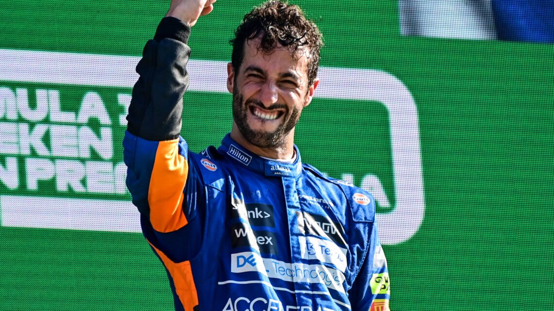 Daniel Ricciardo ganó el GP de Italia