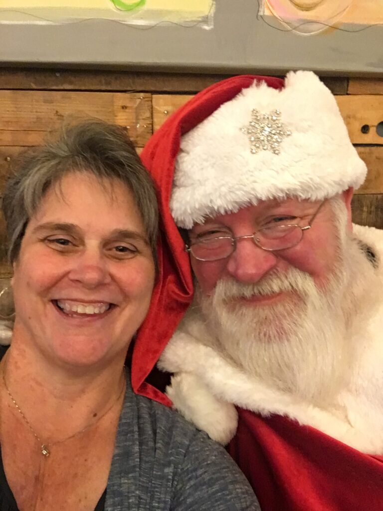 New and improved Santa Claus with Mrs Claus at Pie in the Sky Conroe 2019