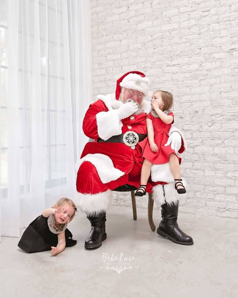 Why is she crying Santa Claus?