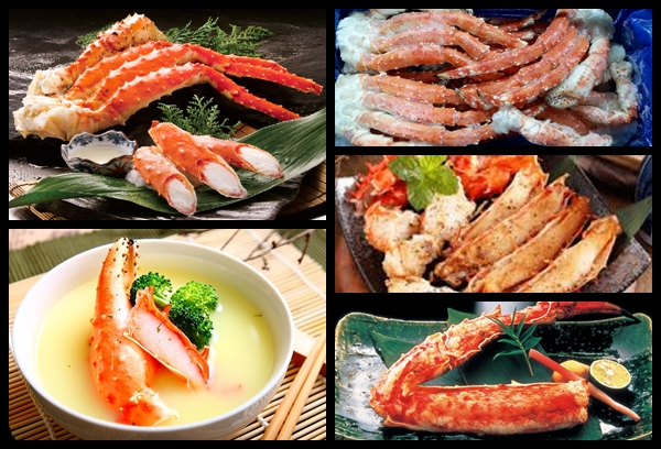 Cooked King Crab Section Image