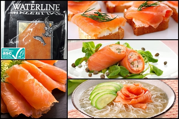Frozen Smoked Salmon Pre-sliced Waterline Image