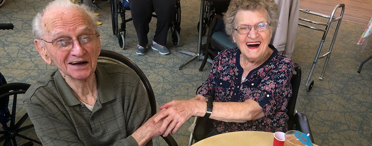 Residents enjoying life enrichment activities at Sheboygan Senior Community Nursing Home.