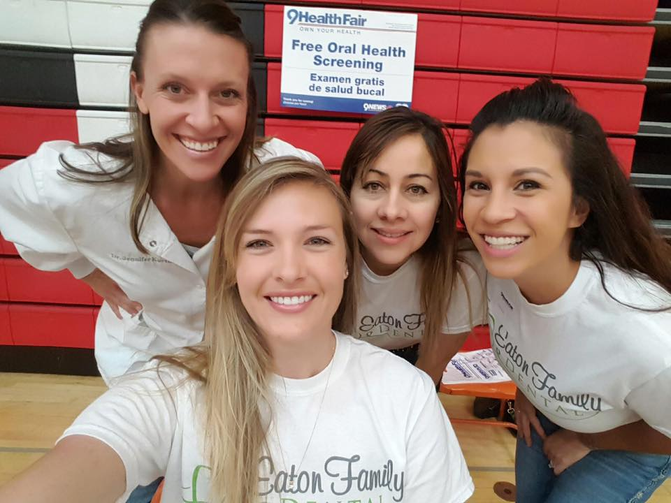 Eaton Family Dental 9 News Health Fair