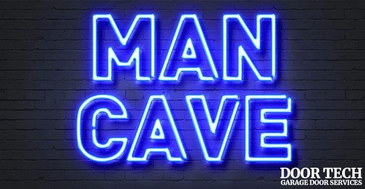 transform your garage into a man cave