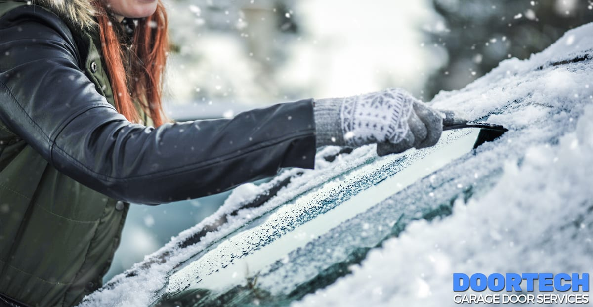 Garage door safety during the winter time