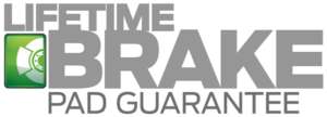 Lifetime Brake Pad Guarantee Logo
