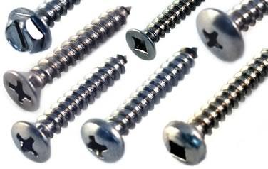 Sheet Metal Screws<br />18-8 / 304 Stainless Steel